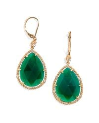 BaubleBar Green Emerald Tear Drops