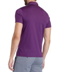Ted Baker | Purple Grainyo Jersey Cotton Polo Shirt for Men | Lyst