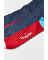 Happy Socks - Red Colorblocked Sock for Men - Lyst