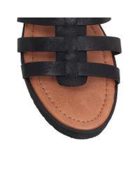 Miss Kg Black Devon Flat Strappy Sandals