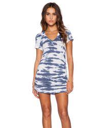 Saint Grace | Multicolor Shirred V Neck Dress | Lyst