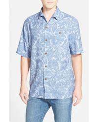 Tommy Bahama - Blue 'lava Bloom' Short Sleeve Camp Shirt for Men - Lyst