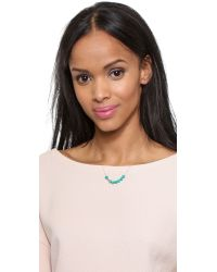 Ginette NY Blue Fallen Sky Bead & Tube Necklace - Turquoise/rose Gold