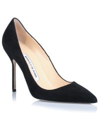 Manolo Blahnik | Black Bb Suede Leather Pump | Lyst