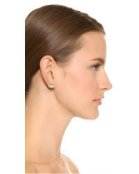 Vivienne Westwood - Metallic Bas Relief Earrings - White/crystal - Lyst