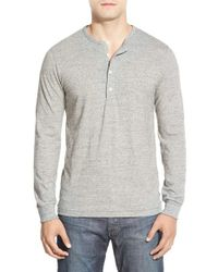 Bonobos | Gray Long Sleeve Slub Jersey Henley for Men | Lyst