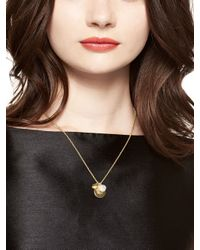 Kate Spade | Metallic Born To Shine Heart Charm Necklace | Lyst