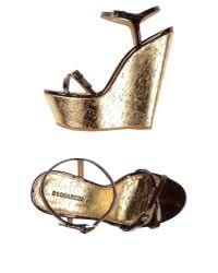 DSquared² - Metallic Sandals - Lyst