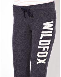 Wildfox - Black Classic Fox Tennis Club Pants - Lyst