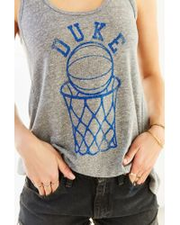 Urban Outfitters - Gray Duke University Basketball Tank Top - Lyst