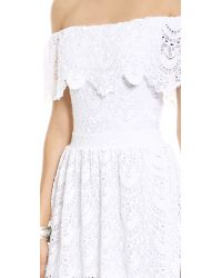 Nightcap Riviera Lace Fit Flare Dress White