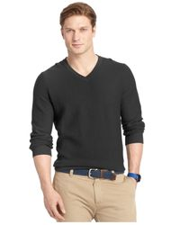 Izod | Black Big And Tall V-neck Sweater for Men | Lyst