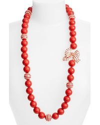 kate spade new york | Red 'out Of The Loop' Long Necklace | Lyst