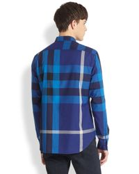 Burberry Brit | Blue Fred Pocket Exploded Check Shirt for Men | Lyst