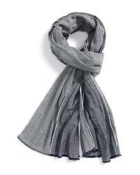 Rag & Bone - Blue Chambray/Stripe Scarf for Men - Lyst
