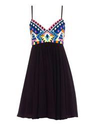 Mara Hoffman Black Embroidered Mini Dress