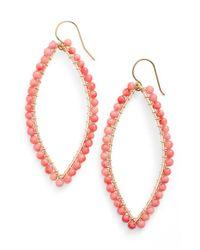 Ki-ele Pink 'lani' Drop Earrings