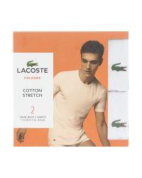Lacoste | White 2 Pack Plain Crew Neck Nightwear T-shirt for Men | Lyst