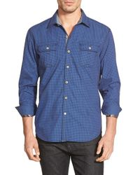 Robert Graham | Blue 'halifax' Tailored Fit Gingham Sport Shirt for Men | Lyst