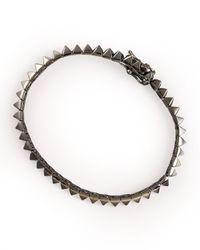 Eddie Borgo - Metallic Gunmetal Pyramid Tennis Bracelet for Men - Lyst