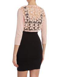 Izabel London - Pink Floral Crochet Lace Bolero - Lyst