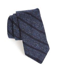 Todd Snyder Blue Woven Silk & Wool Tie for men