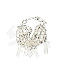 Nasty Gal | Metallic Wtf Chain Bracelet | Lyst