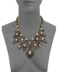Erickson Beamon - Metallic Hello Sweetie Crystal Bib Necklace - Lyst