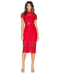 Alexis Synthetic Leona Lace Dress In Red Lace Red Lyst