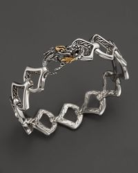 John Hardy | Metallic Sterling Silver & 18k Gold Naga Medium Scale Lava Link Bracelet With Black Sapphires | Lyst