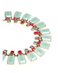 J.Crew - Blue Frosted Lucite Necklace - Lyst
