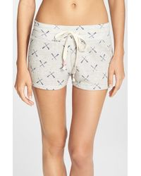 Jane & Bleecker New York | Gray Print French Terry Shorts | Lyst