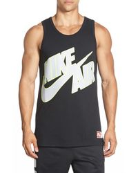 Nike | Black 'air Pivot Sportswear' Graphic Tank for Men | Lyst