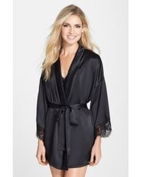 Hanky Panky | Black 'lady Catherine' Silk Satin Robe | Lyst