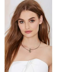 Nasty Gal | Metallic Baller Collar Necklace | Lyst