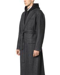 Public School - Gray Long Coat for Men - Lyst