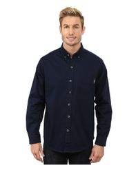 Woolrich Blue Cast Iron Shirt for men