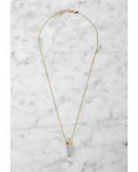 Forever 21 | Metallic By Boe Wrapped Quartz Necklace | Lyst