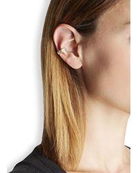 Elizabeth and James - Metallic Stella 22kt Gold-plated Ear Cuff - Lyst