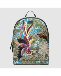 Gucci Multicolor Xl Gg Floral Print Backpack for men