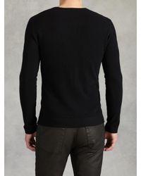 John Varvatos | Black Ls Crewneck Sweater for Men | Lyst