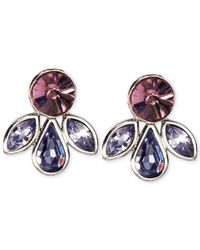 Givenchy | Metallic Silver-tone Multi-crystal Stud Earrings | Lyst