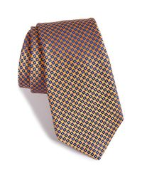 Ike Behar | Metallic Geometric Silk Tie for Men | Lyst