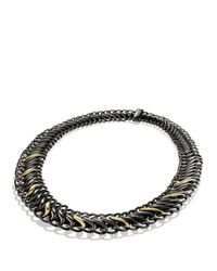 David Yurman | Black & Gold Chain Necklace | Lyst