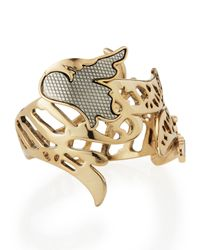 Lulu Frost - Metallic Nightshade Hinge Cuff Bracelet - Lyst