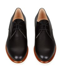 Tod's - Black Gomma Derby Shoe - Lyst