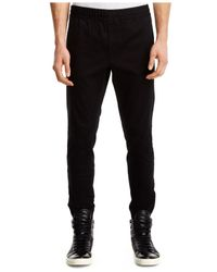 Kenneth Cole Black Solid Straight-fit Joggers for men