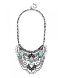 BaubleBar | Metallic Turquoise Chieftess Bib | Lyst