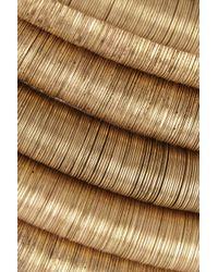Balmain - Metallic Goldplated Multistrand Choker - Lyst