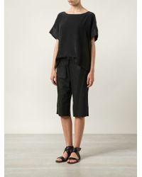 UTZON - Black Drawstring Waist Shorts - Lyst
